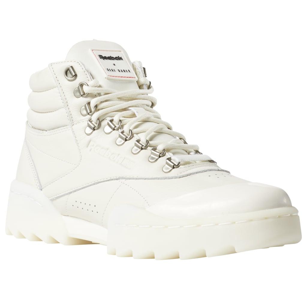 Reebok Freestyle Hi Nova Ripple x Gigi Hadid Sneakers in White