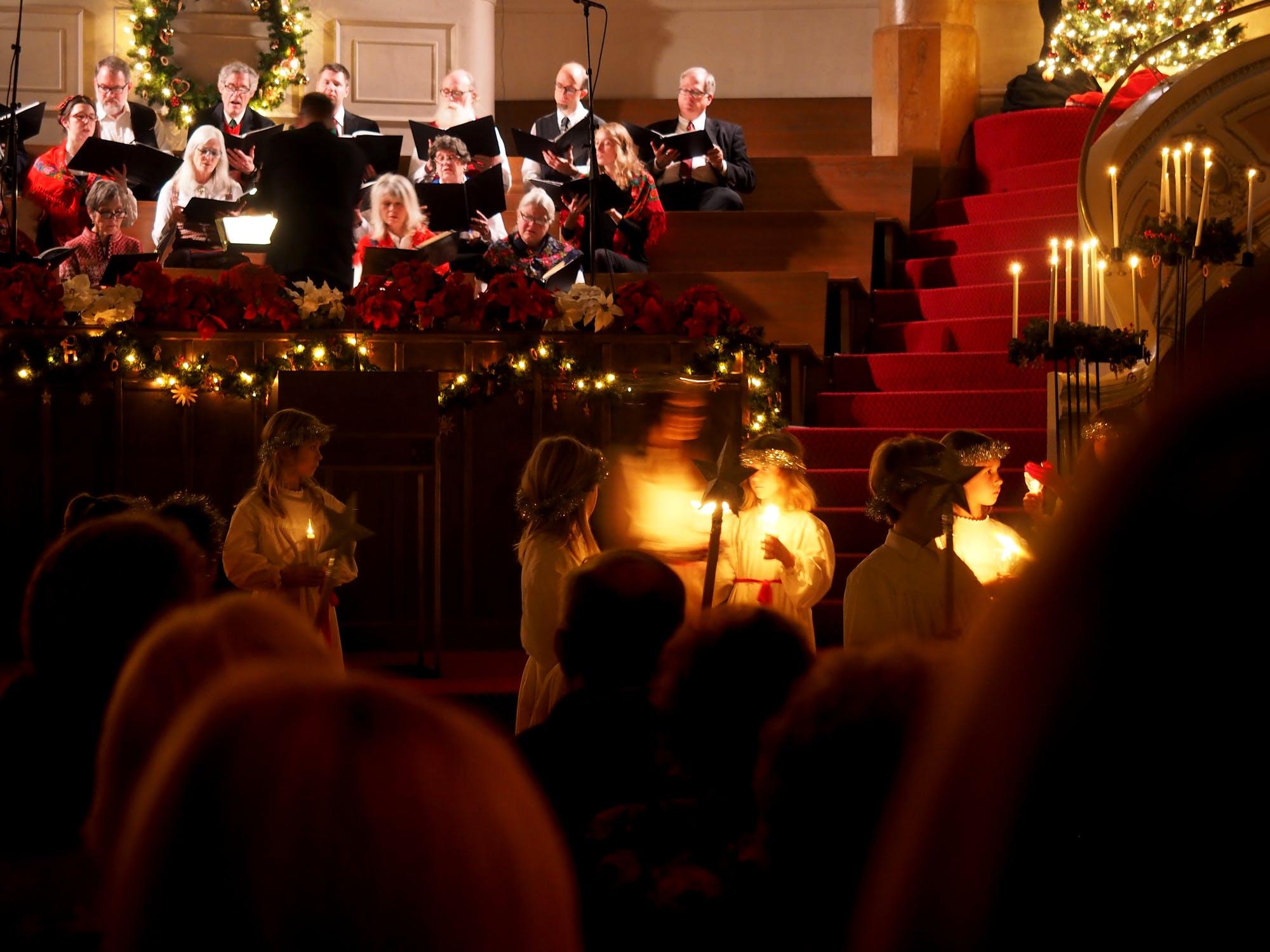 การร้องเพลง คริสต์มาส