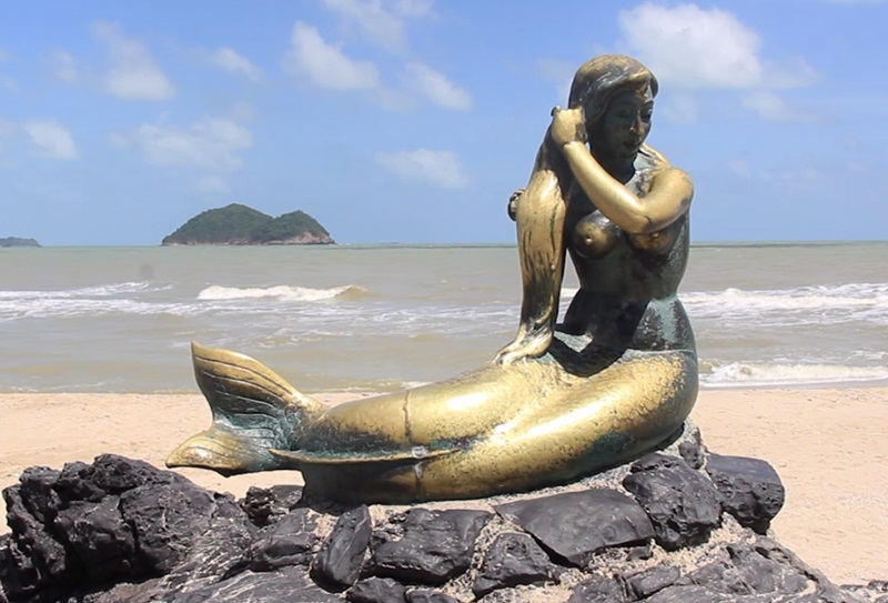 ความเชื่อต่างๆ ทะเล นางเงือกทอง ประวัตินางเงือกทอง เรื่องเล่า แลนมาร์คสงขลา แหลมสมิหลา