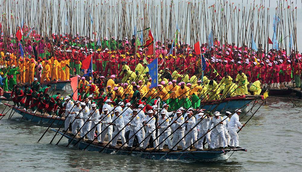 จีน ประเทศจีน เชงเม้ง เทศกาล เรือ