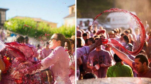 เทศกาลสาดไวน์แดง หรือ Battle of Wine ประเทศสเปน