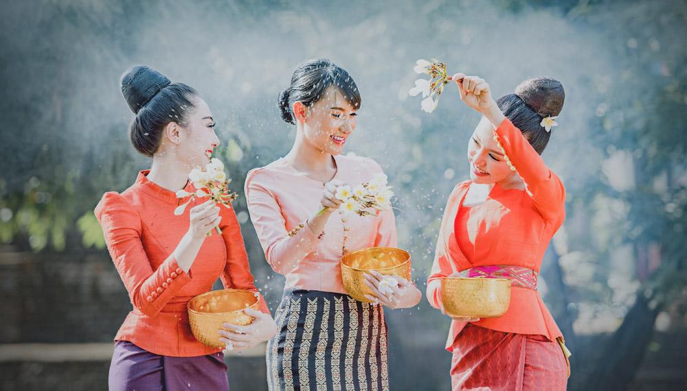 ประเพณีพื้นบ้าน ประเพณีไทย วันสงกรานต์
