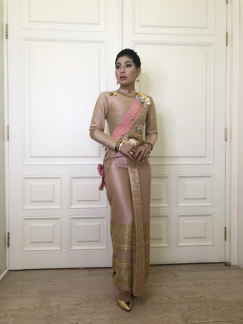 พระองค์หญิงสิริวัณณวรีฯ ในฉลองพระองค์ชุดไทยบรมพิมาน