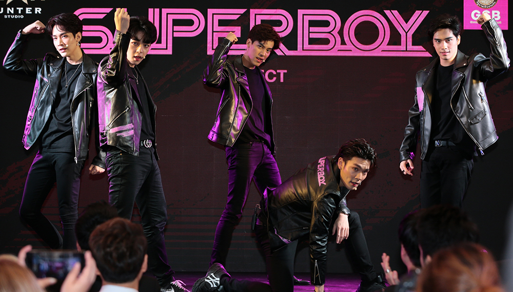 Boy Band SBFIVE Super Boy การประกวด