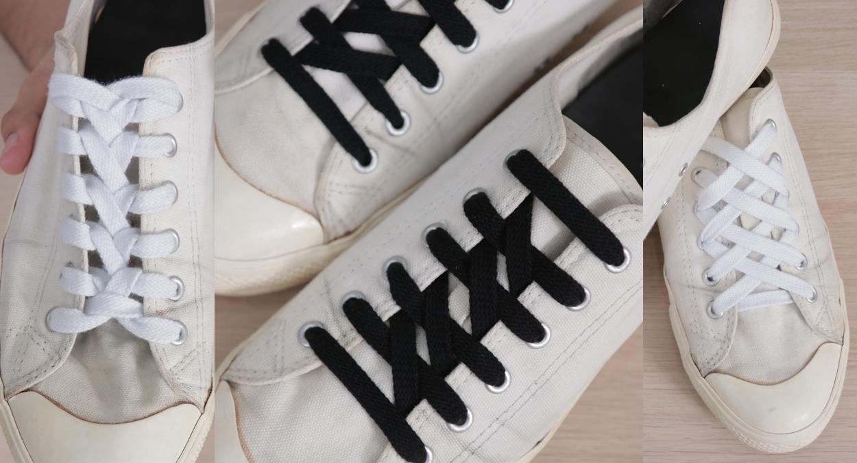 DIYผูกเชือกรองเท้า วิธีผูกเชือกรองเท้า เทคนิคผูกเชือกรองเท้า