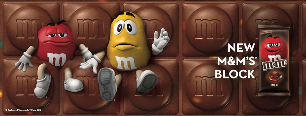 M&M Block เปิดตัวครั้งแรกในไทย 4 รสชาติ