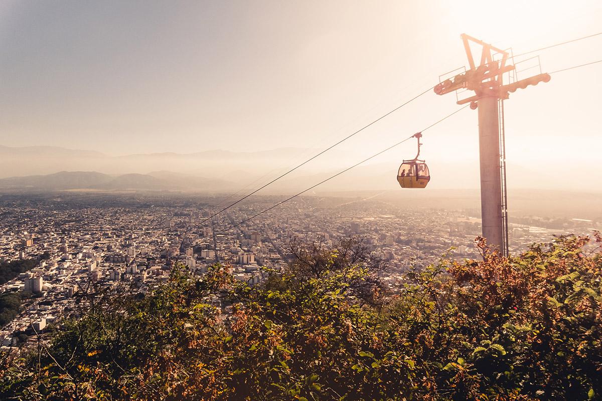 Cerro San Bernando (cable car) Salta (Argentina)