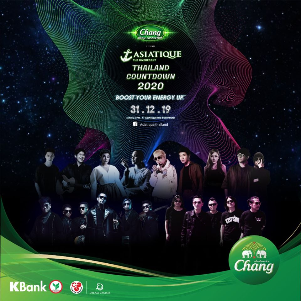 Chang Music Connection presents Asiatique Thailand Countdown 2020