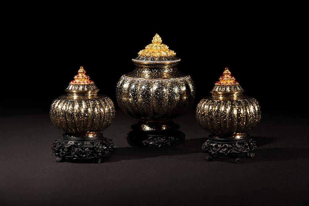 ผอบถมตะทองทรงกลีบมะยม พิพิธภัณฑ์ศิลป์แผ่นดิน