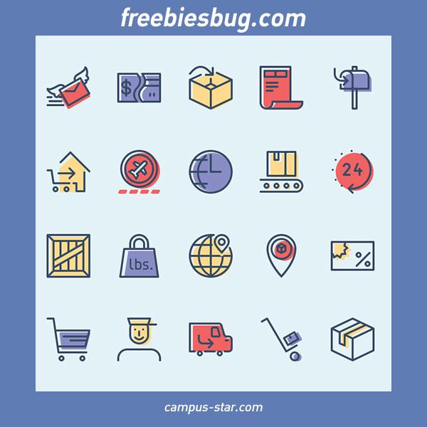 freebiesbug รวมเว็บไซต์สำหรับ ดาวน์โหลดไอคอนฟรี