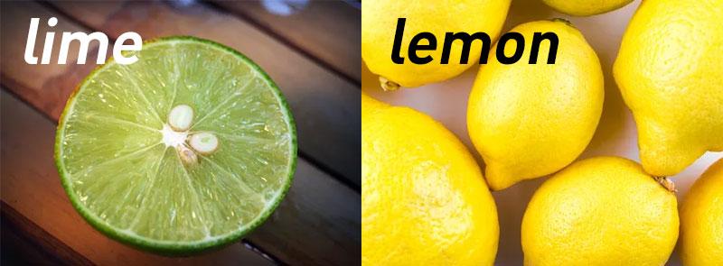 lime กับ lemon ต่างกันอย่างไร