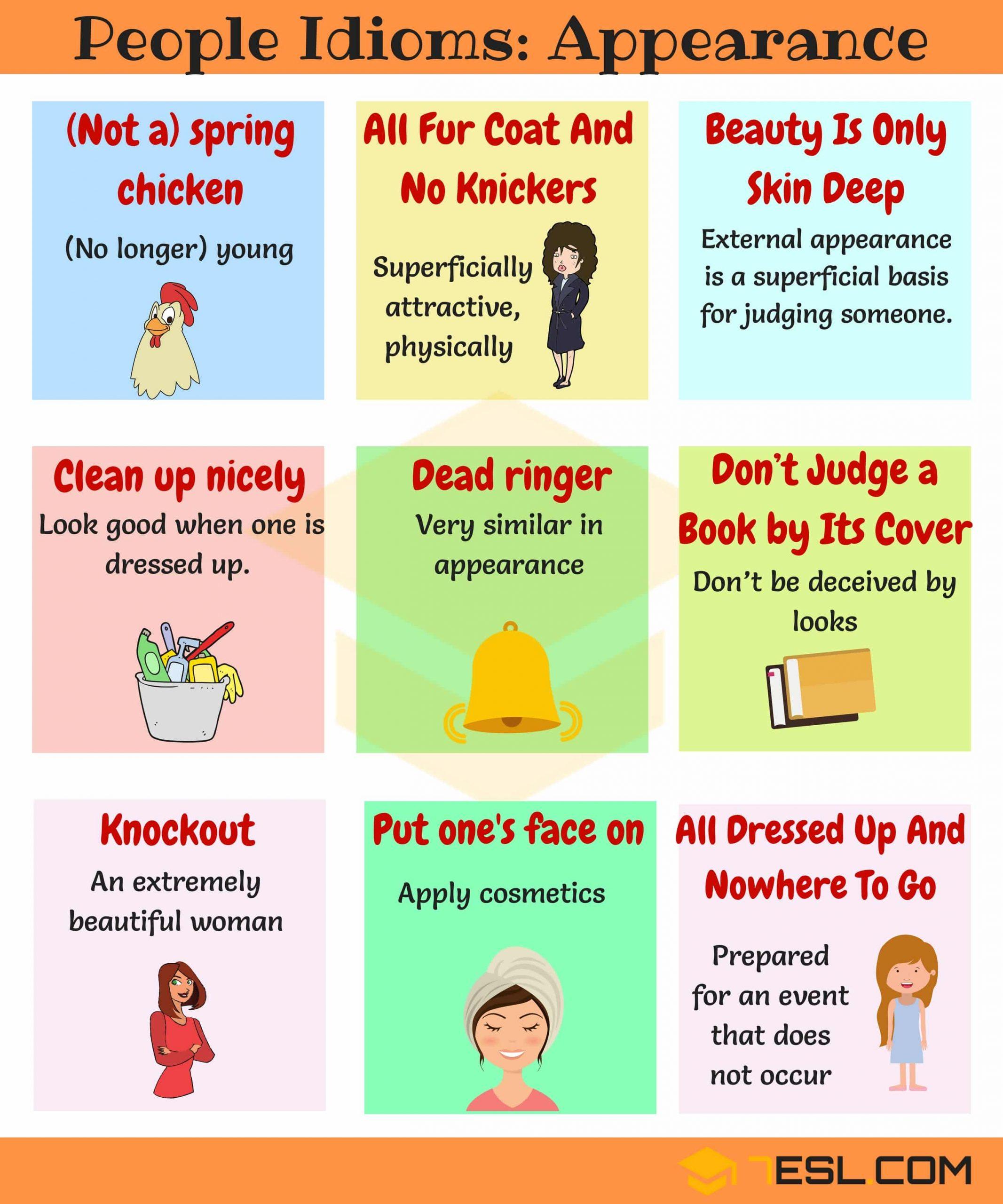 สำนวนภาษาอังกฤษ ใช้บรรยายลักษณะของคน Idioms to describe people