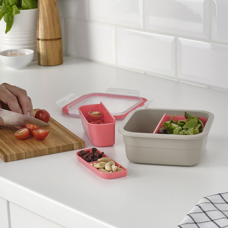 กล่องใส่อาหารพร้อมที่แบ่งช่อง รุ่น IKEA 365+