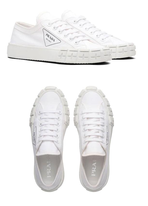 Gabardine fabric sneakers