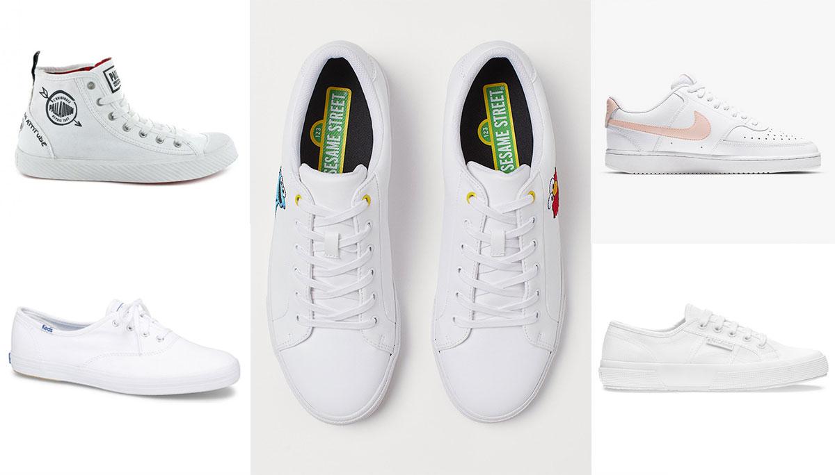 Sneakers รองเท้า รองเท้าผ้าใบ รองเท้าสีขาว สีขาว