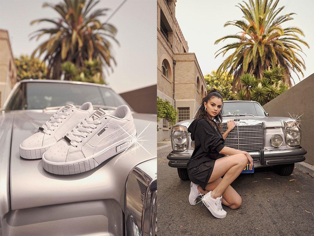 SELENA GOMEZ x PUMA รองเท้าสีขาว SNEAKER