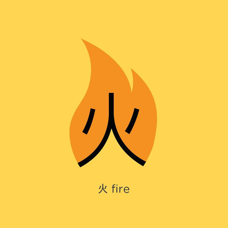 Fire - เรียนรู้คำศัพท์ ตัวอักษรภาษาจีน