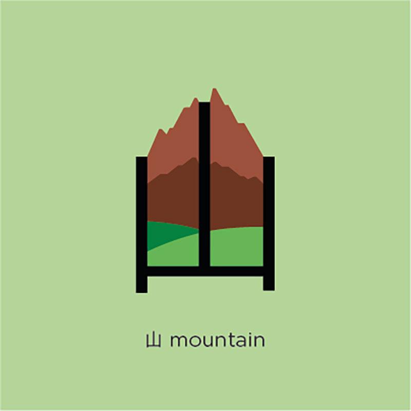 Mountain เรียนรู้คำศัพท์ ตัวอักษรภาษาจีน