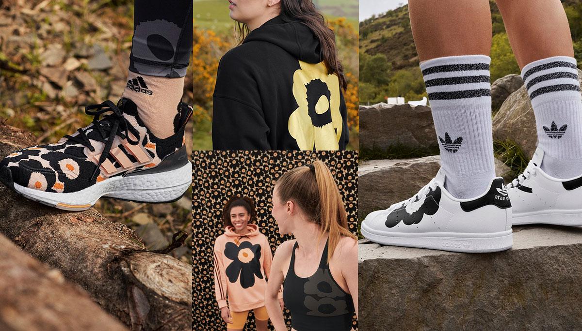 adidas x Marimekko ลายพิมพ์ดอกป๊อปปี้